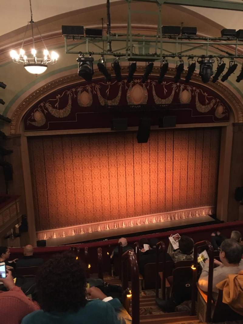 Seating view for Booth Theatre Section Mezzanine L Row H Seat 1