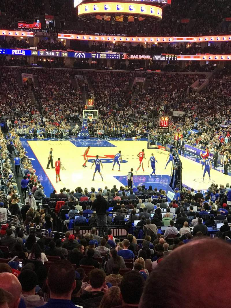 Seating view for Wells Fargo Center Section 118 Row 22 Seat 5