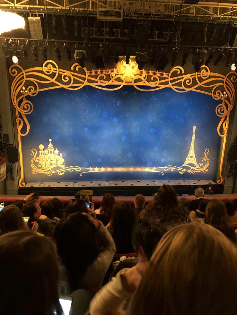 Seating view for Broadhurst Theatre Section Center mezzanine Row G Seat 103