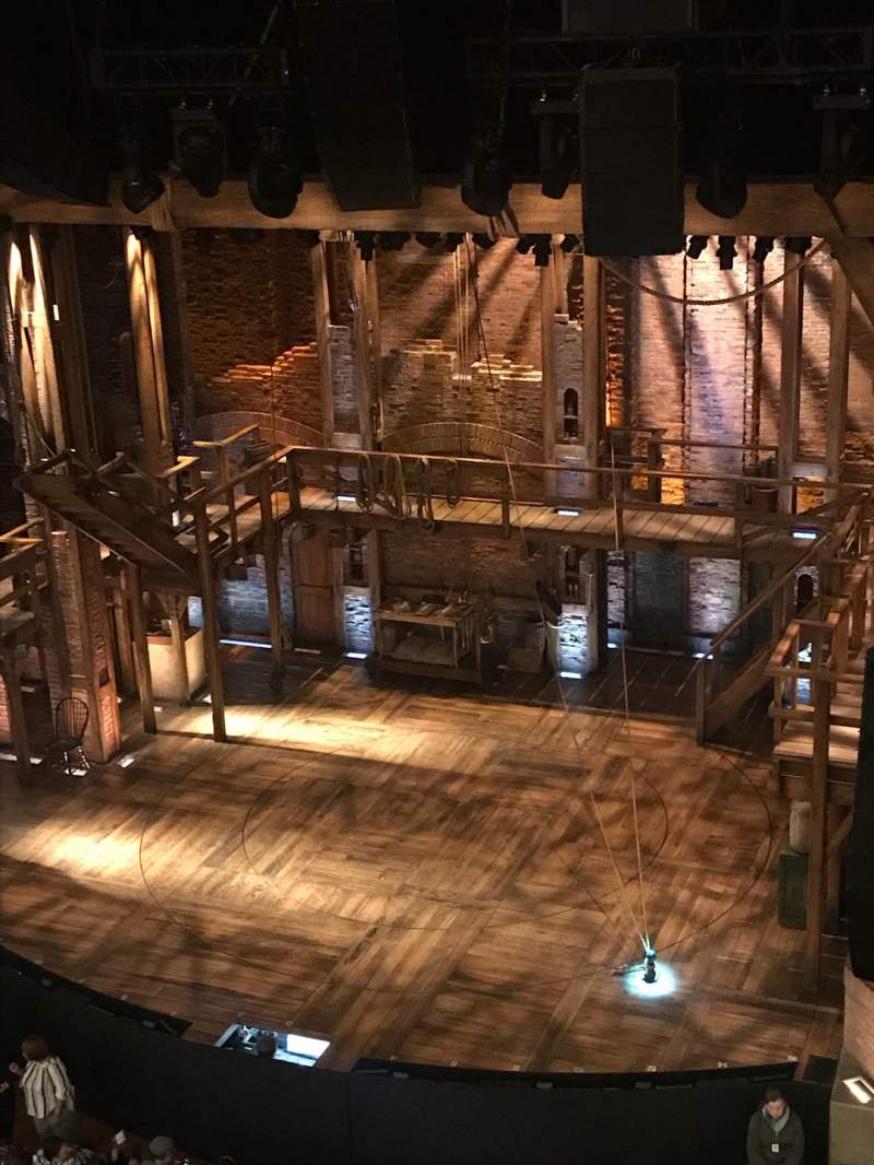 Seating view for CIBC Theatre Section Balcony R Row A Seat 2-4