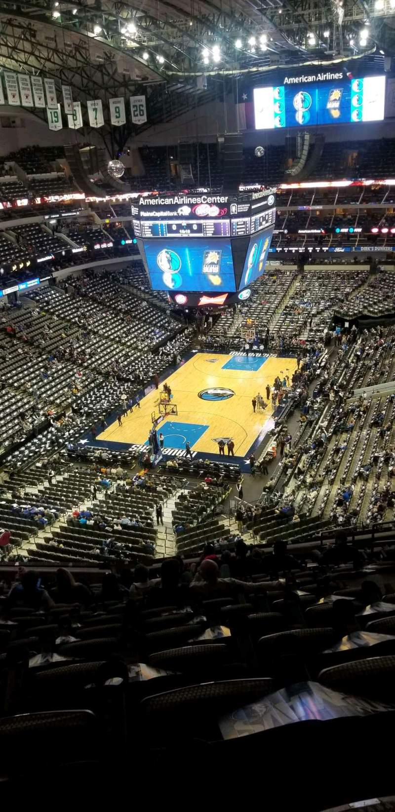 Seating view for American Airlines Center Section 333 Row k Seat 7