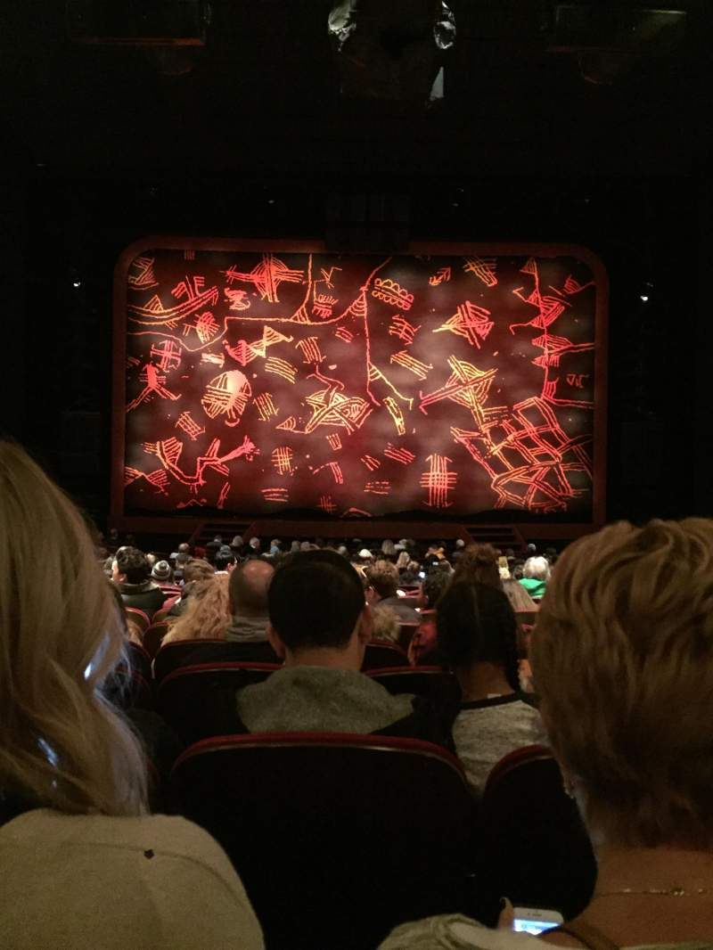 Seating view for Minskoff Theatre Section Orch Row X Seat 114