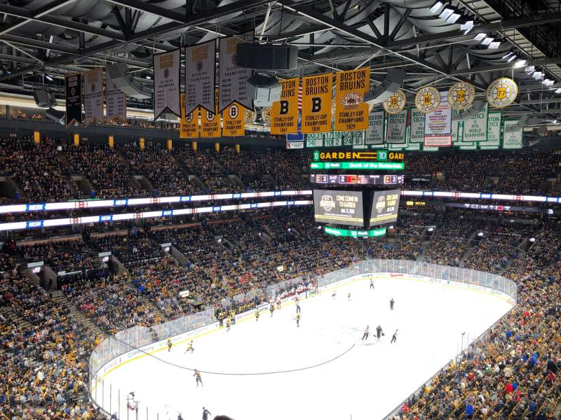 Seating view for TD Garden Section bal 321 Row 9 Seat 5