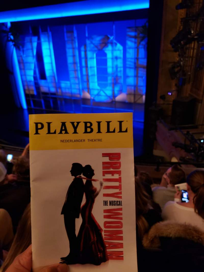 Seating view for Nederlander Theatre Section Mezzanine R Row E Seat 18