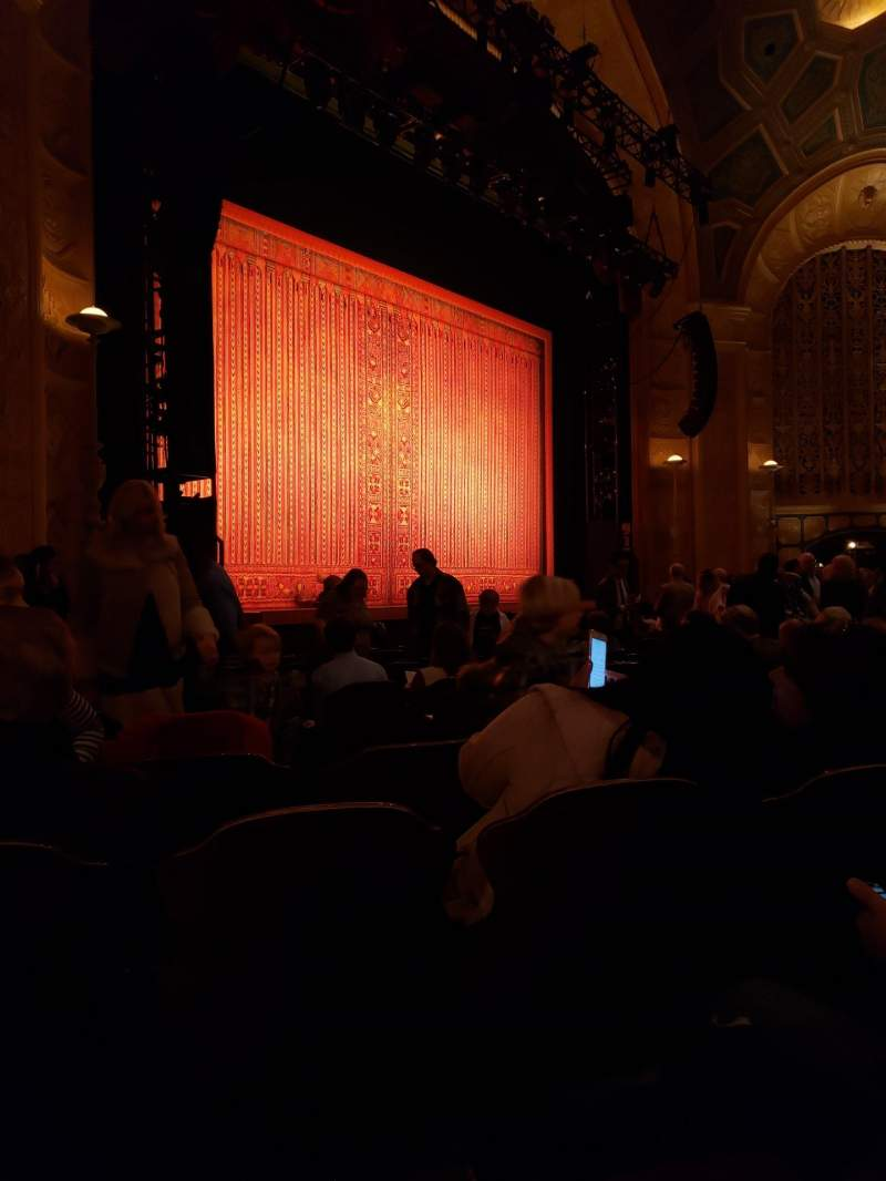 Seating view for Detroit Opera House Section Main Floor 5 Row M Seat 9
