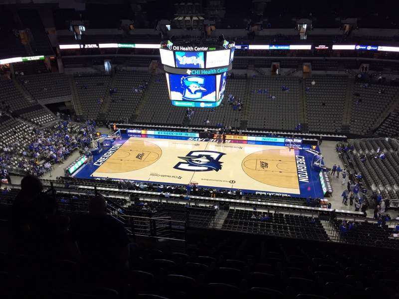 Seating view for CHI Health Center Omaha Section 220 Row L Seat 13