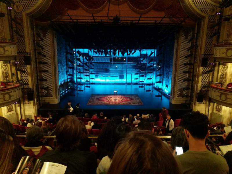 Seating view for Cort Theatre Section Mezzanine C Row D Seat 106