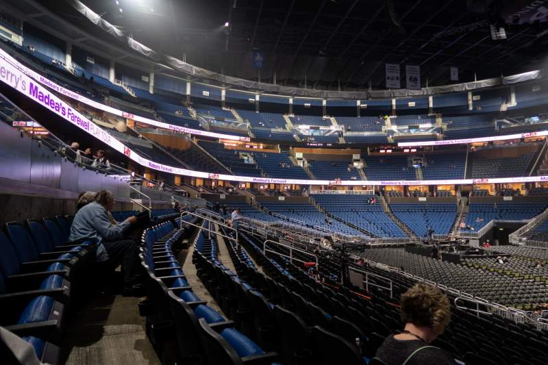 Seating view for Amway Center Section 104 Row 16 Seat 1
