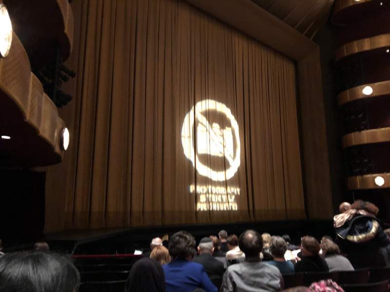 Seating view for David H. Koch Theater Section Left Orchestra Row H Seat 29