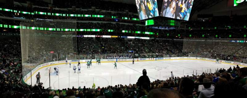 Seating view for American Airlines Center Section 109 Row V Seat 4