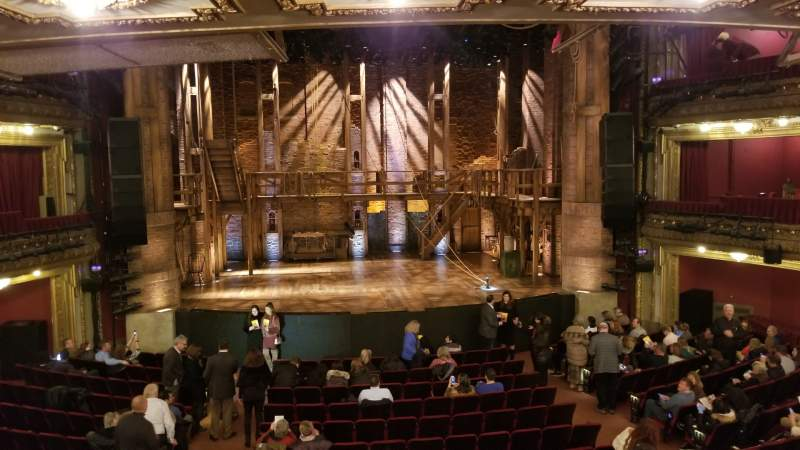 Seating view for CIBC Theatre Section Dress Circle LC Row A Seat 202