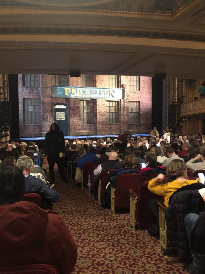 Seating view for Al Hirschfeld Theatre Section ORCHL Row T Seat 1
