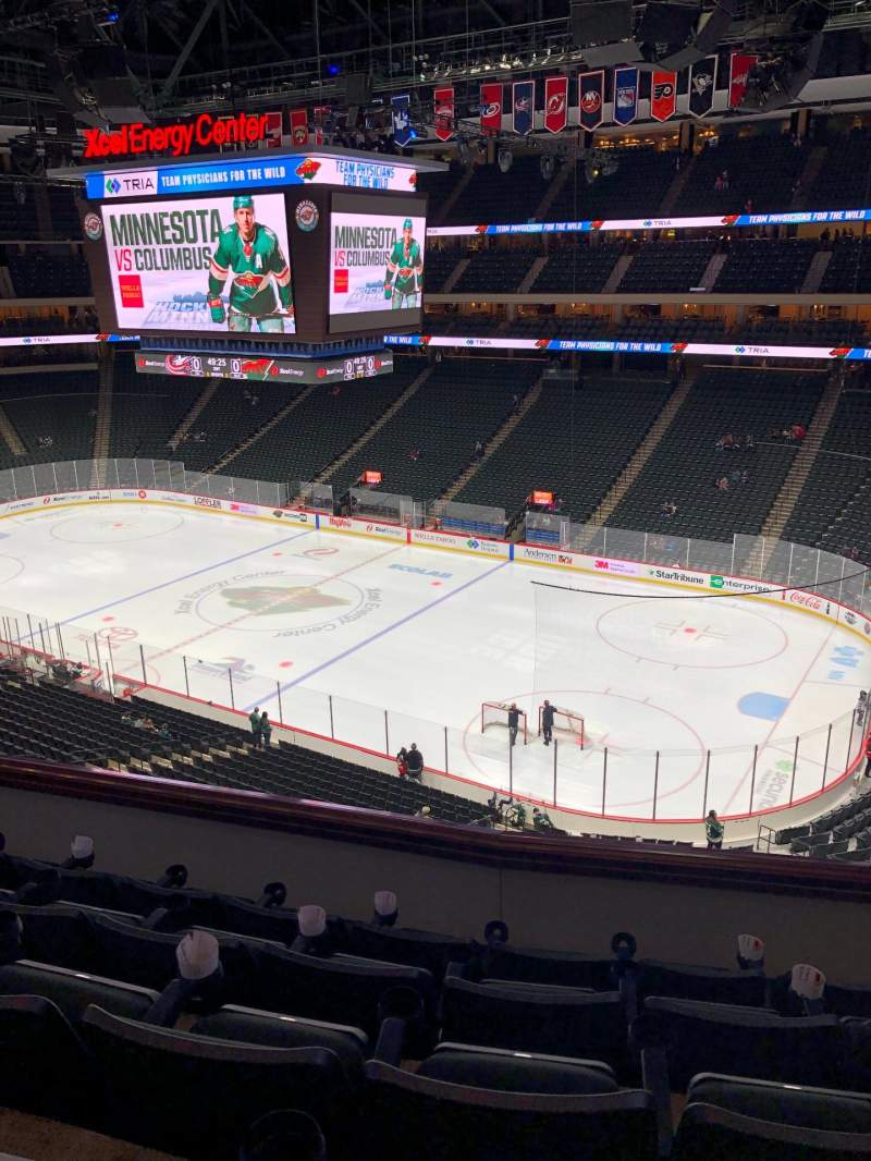 Seating view for Xcel Energy Center Section C2 Row 5 Seat 3