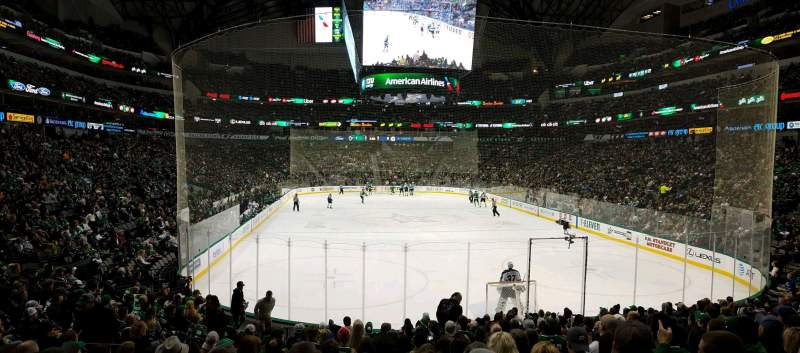 Seating view for American Airlines Center Section 113 Row R Seat 12