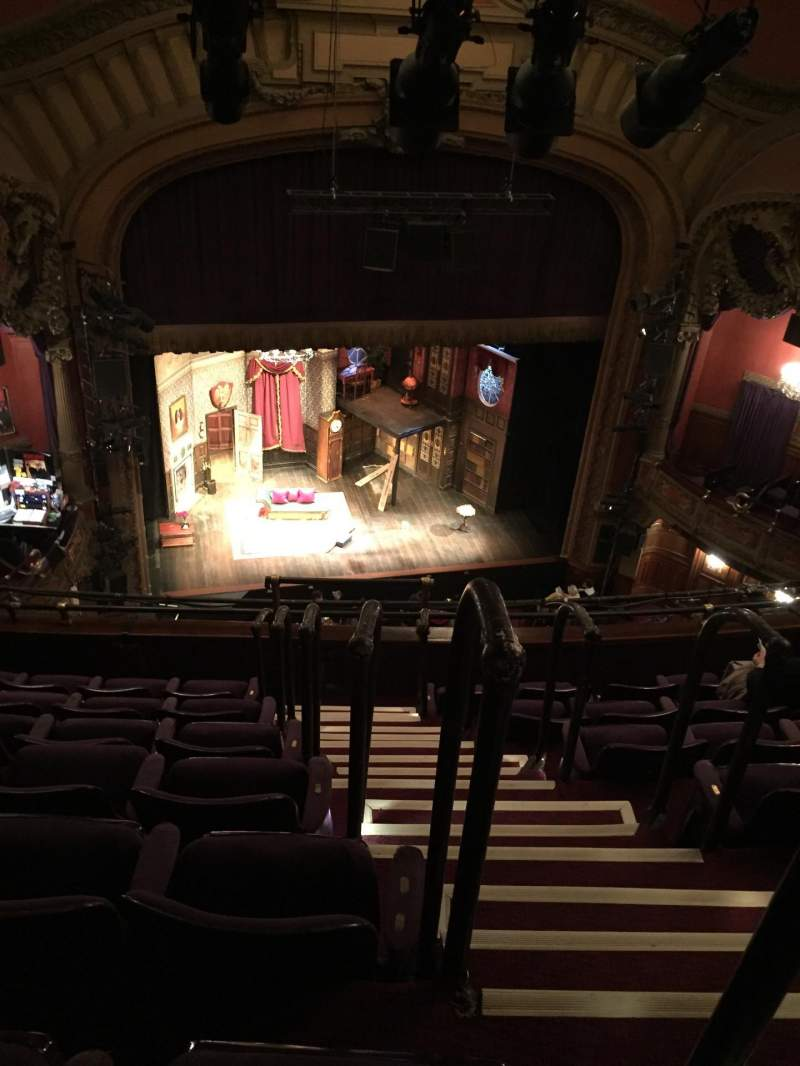 Seating view for Lyceum Theatre (Broadway) Section Balcony L Row G Seat 1