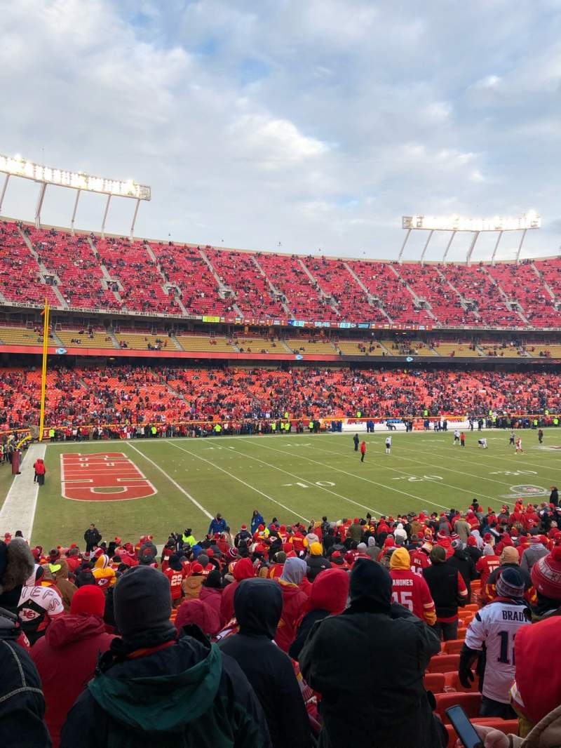 Seating view for Arrowhead Stadium Section 123 Row 24 Seat 9