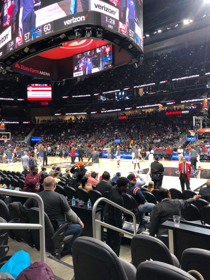 Seating view for State Farm Arena Section 106 Row DD Seat 8
