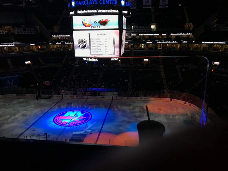 Seating view for Barclays Center Section 223 Row 1 Seat 8