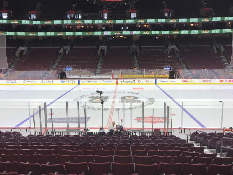 Seating view for Wells Fargo Center Section 101 Row 14 Seat 7
