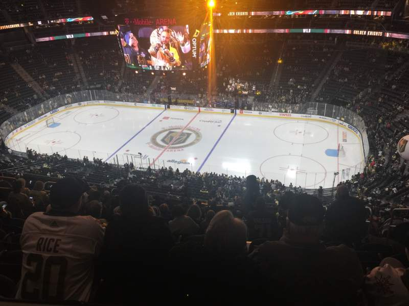 Seating view for T-Mobile Arena Section 225 Row Tt Seat 8
