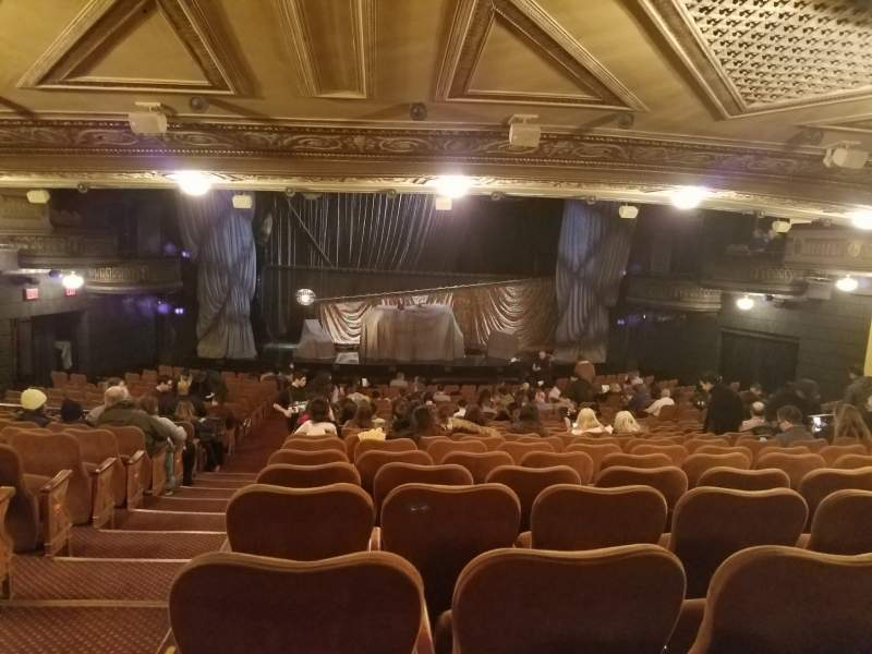 Seating view for Majestic Theatre Section Orchestra C Row V Seat 101