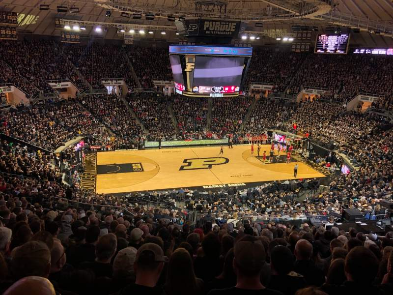 Seating view for Mackey Arena Section 111 Row 21 Seat 15