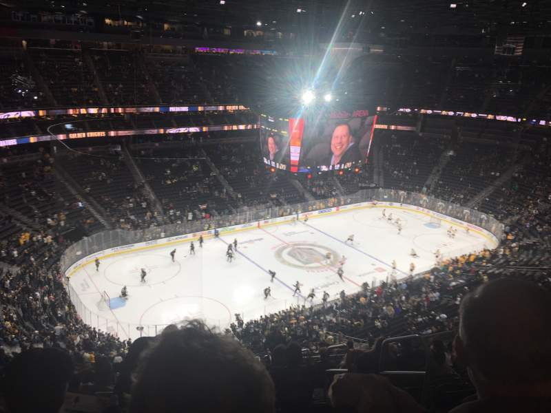 Seating view for T-Mobile Arena Section 201 Row R Seat 8