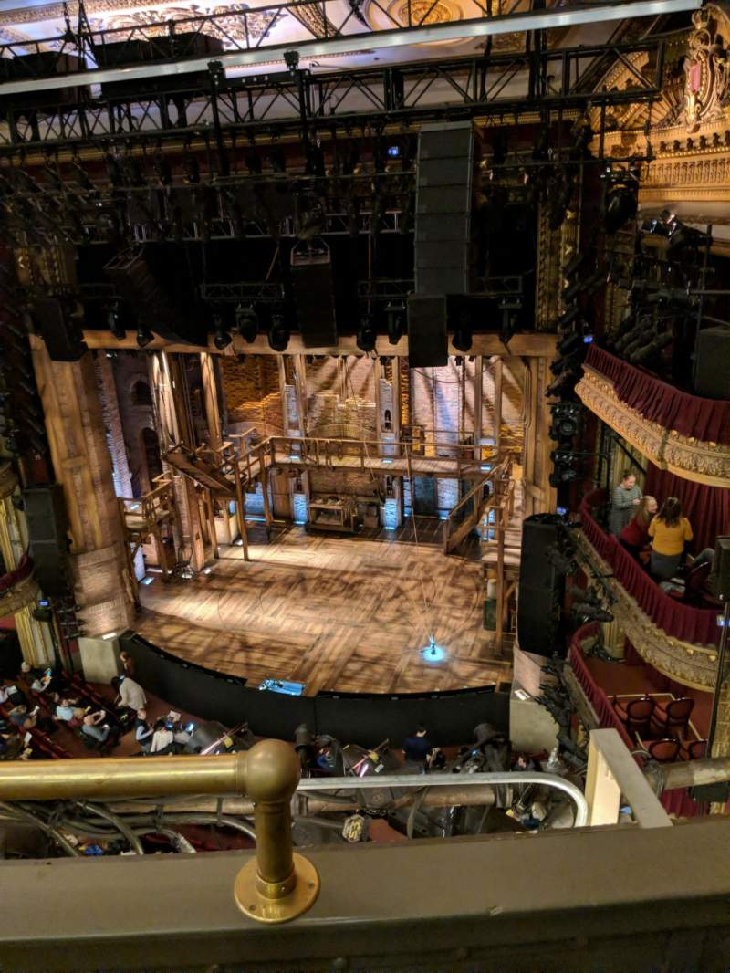 Seating view for CIBC Theatre Section Balcony R Row B Seat 2