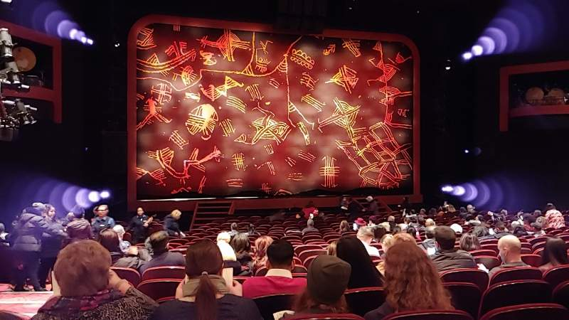 Seating view for Minskoff Theatre Section Orchestra C Row X Seat 101