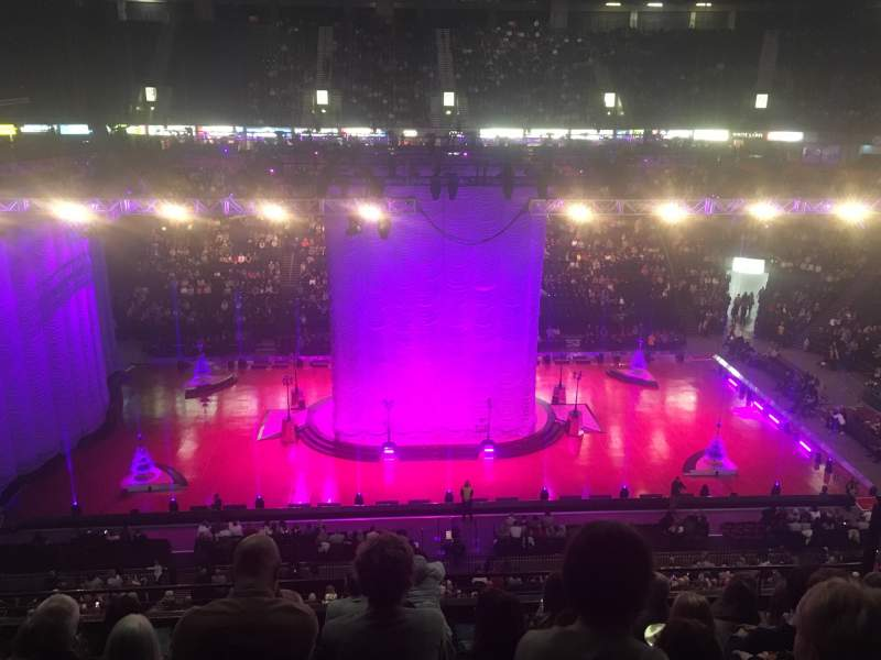 Seating view for Manchester Arena Section 203 Row H Seat 9