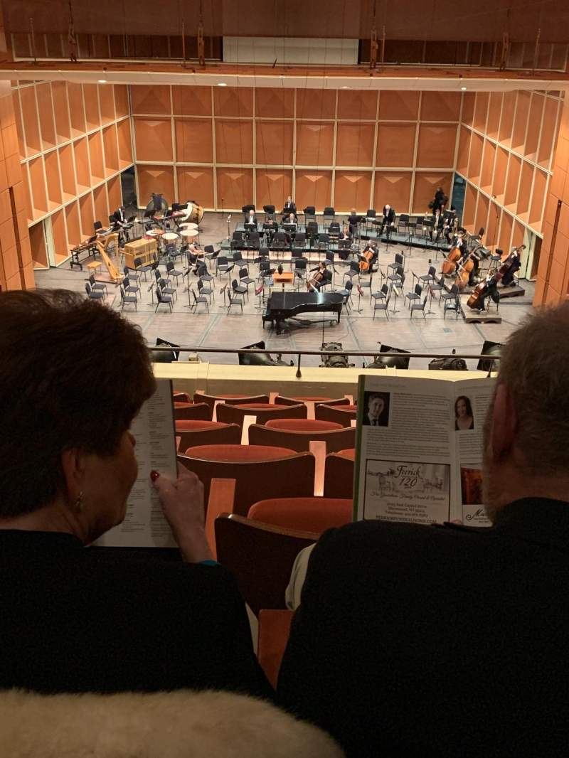 Seating view for Uihlein Hall Section Cute Loge Row G Seat 28