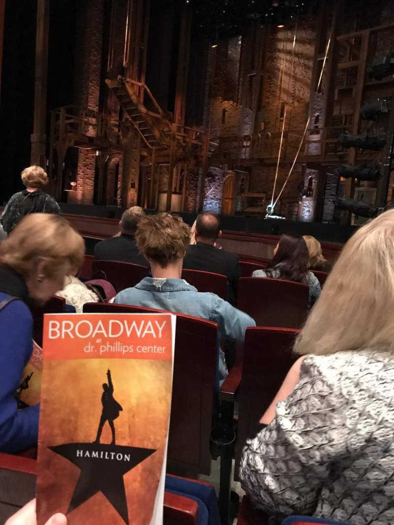 Seating view for Walt Disney Theatre - Dr. Phillips Center Section Lower Orchestra R Row C Seat 10
