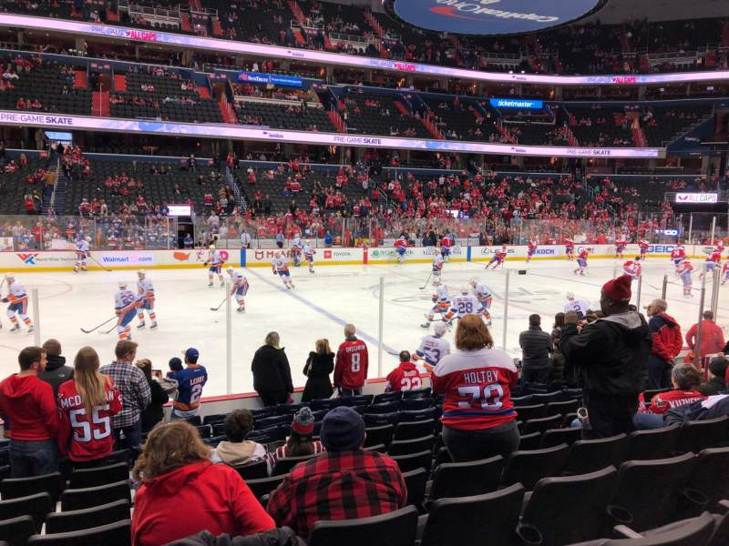 Seating view for Capital One Arena Section 110 Row L Seat 16