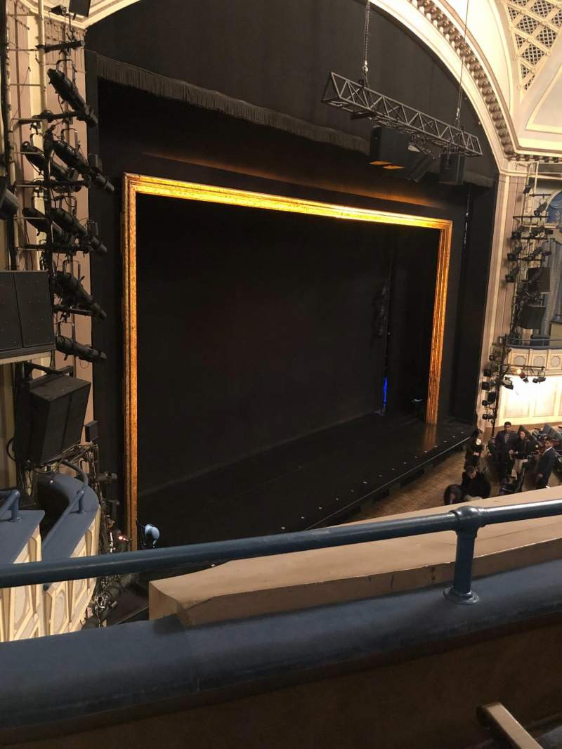 Seating view for Ambassador Theatre Section Front Mezzanine L Row B Seat 13