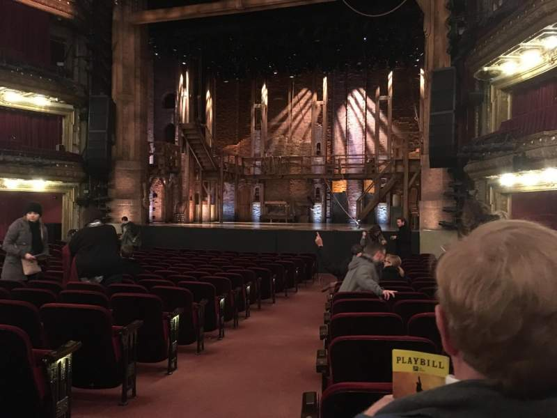 Seating view for CIBC Theatre Section Orchestra R Row T Seat 2