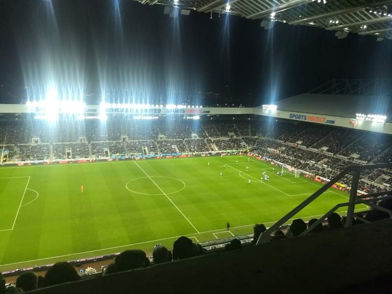 Seating view for St James' Park Section Milburn level 7 Row F Seat 164
