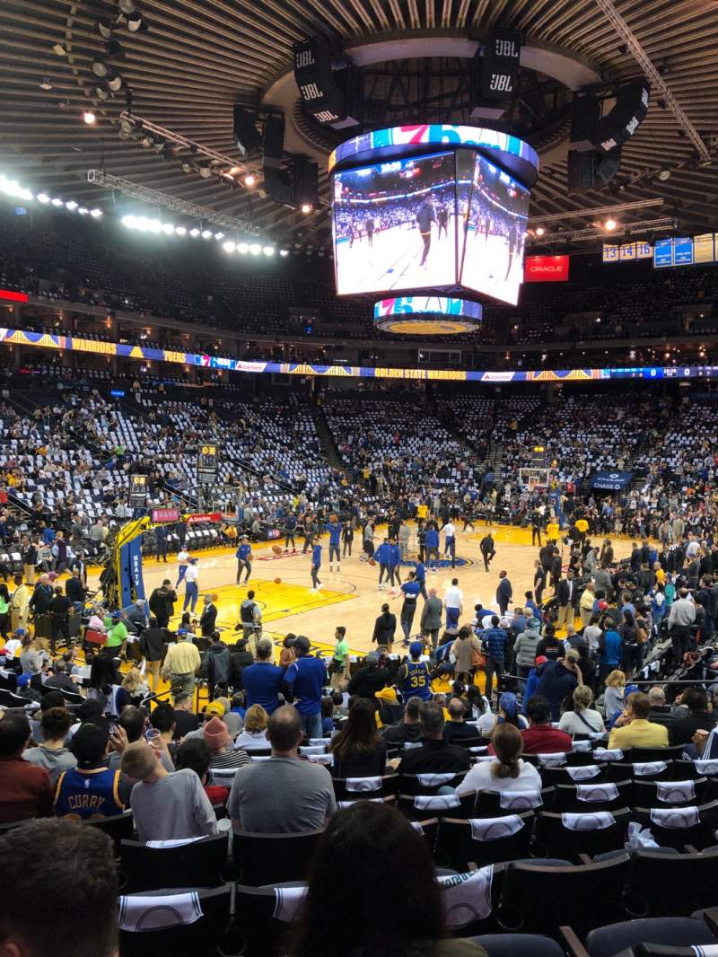 Seating view for Oracle Arena Section 105 Row 14 Seat 18