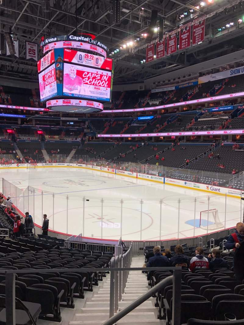 Seating view for Capital One Arena Section 104 Row S Seat 3,4,5