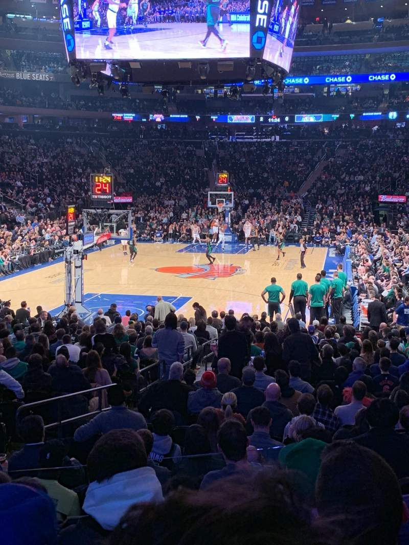 Seating view for Madison Square Garden Section 103 Row 11 Seat 5