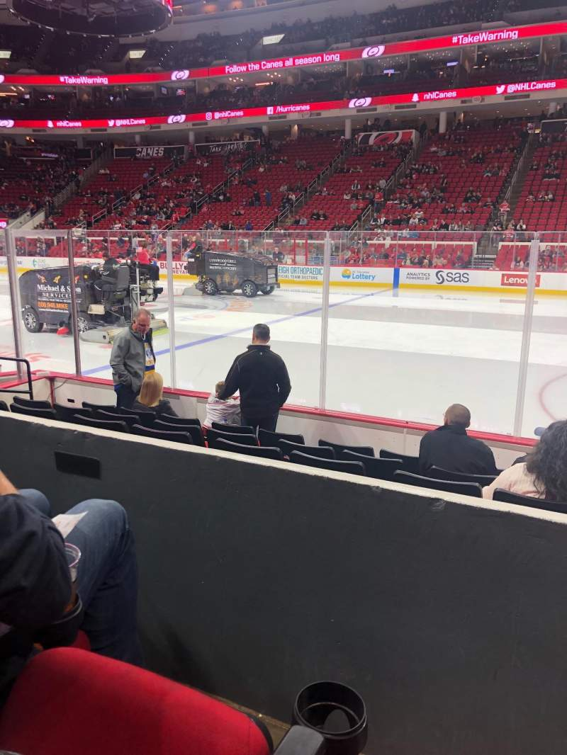 Seating view for PNC Arena Section 102 Row G Seat 4