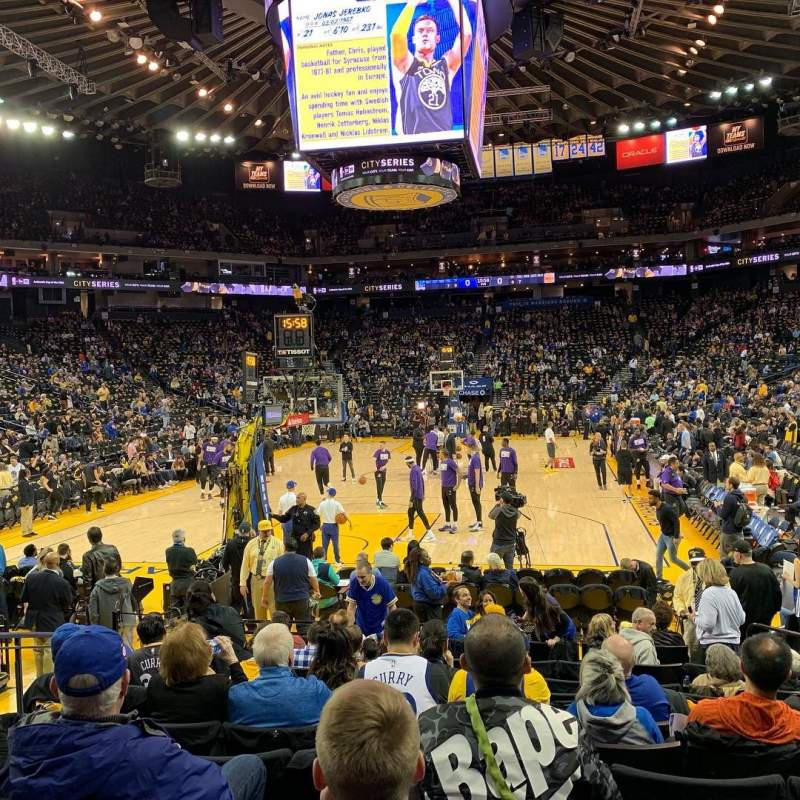 Golden State Warriors New Stadium: Oracle Arena, Section 107, Home Of Golden State Warriors