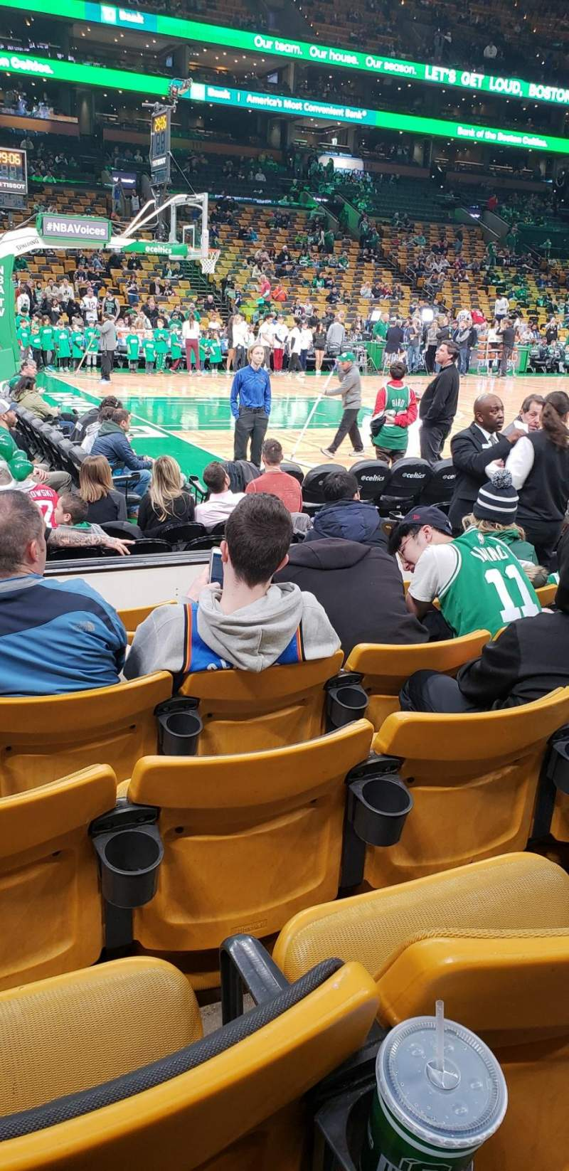 Seating view for Td garden Section Loge 14 Row 6 Seat 7