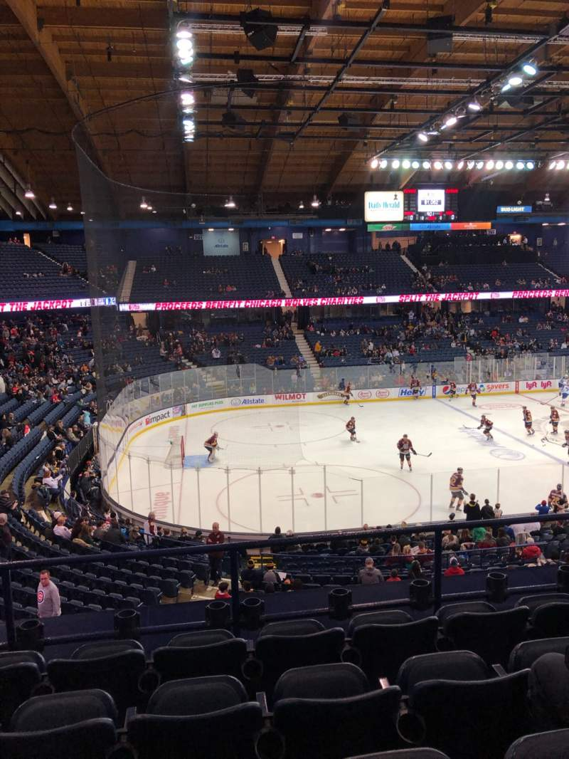 Seating view for Allstate Arena Section 212 Row E Seat 21