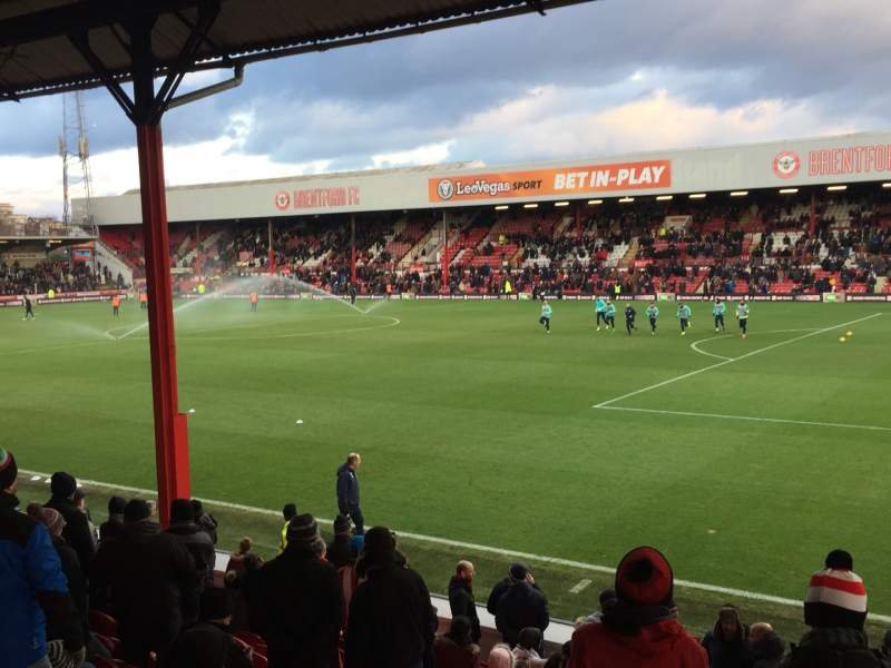 Seating view for Griffin Park Section B301 Row P Seat 117