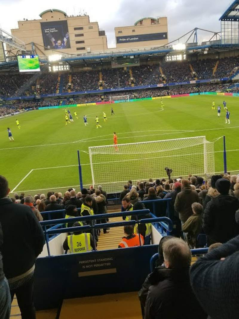 Seating view for Stamford Bridge Section Matthew Harding Lower - L12 Row X Seat 84