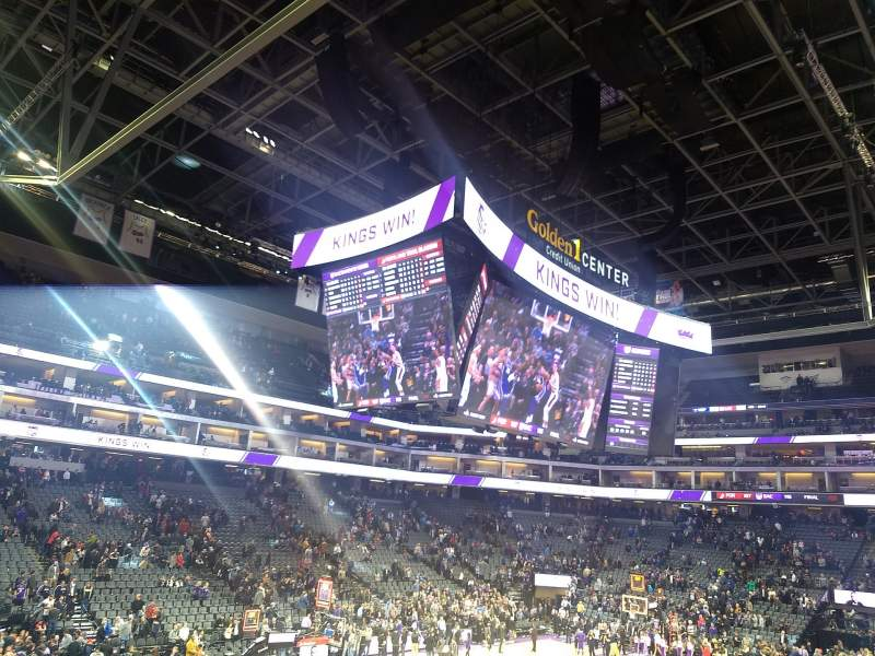 Seating view for Golden 1 Center Section 124 Row K Seat 5