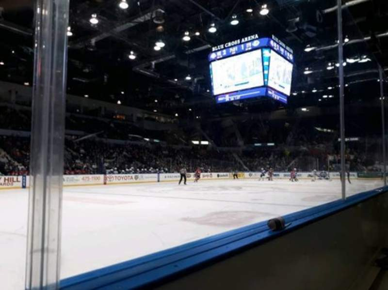 Seating view for Blue Cross Arena Section 104 Row A Seat 8