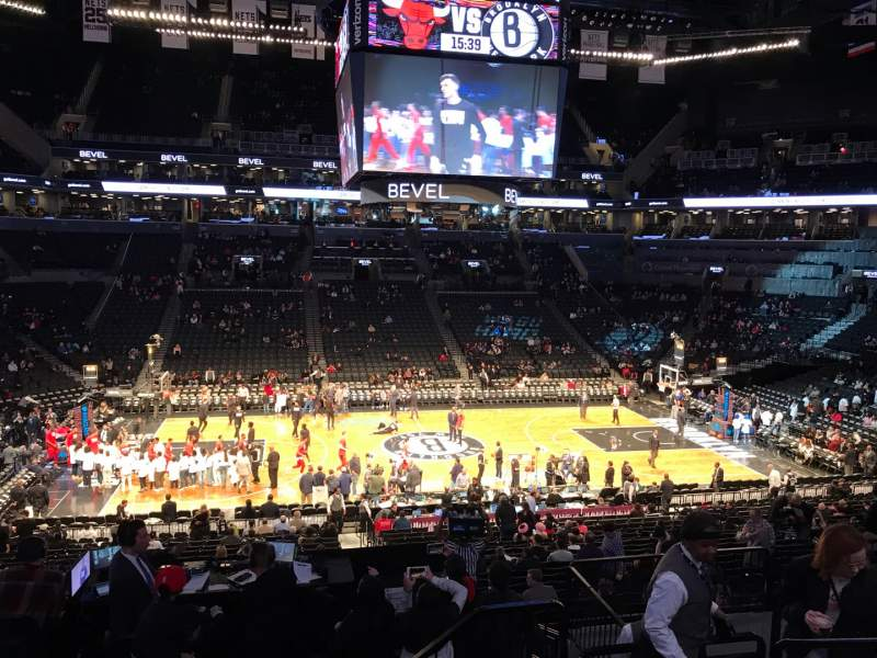 Seating view for Barclays Center Section 109 Row 7 Seat 4