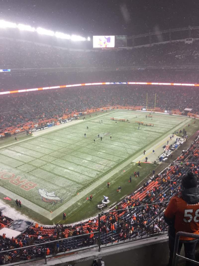 Seating view for Broncos Stadium at Mile High Section 542 Row 4 Seat 1