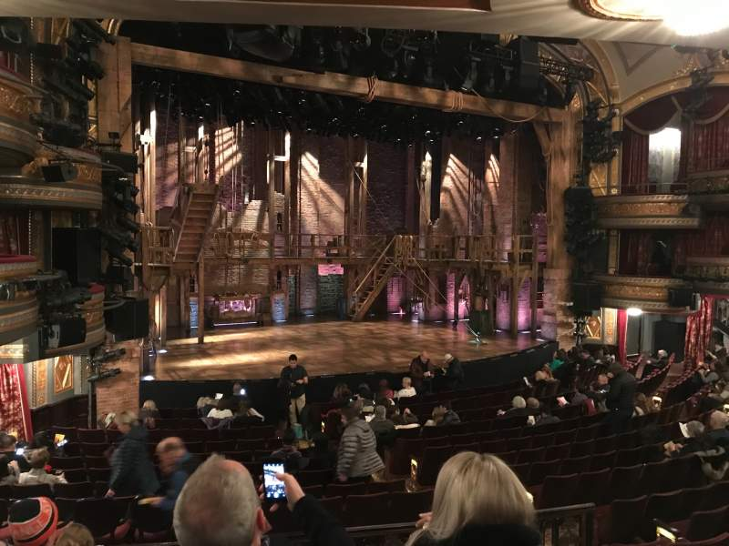 Seating view for Richard Rodgers Theatre Section Orchestra Row Q Seat 17-19